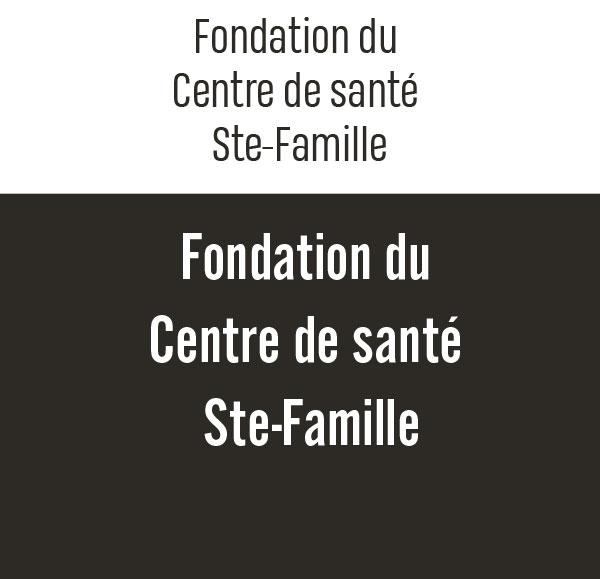 Fondation du Centre de santé Ste-Famille